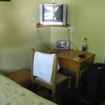 Room interior and television