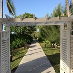 Pathway from the gazebo to the hotel