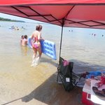 grab your EZ Up and floats. great sandbar/beach to have fun, sun, and shade!