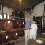 Chris and our driver Massimo at a San Gimignano winery