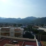 Sierra Madre mountains from back of hotel on 7th floor