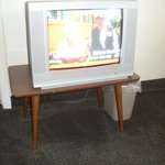 TV on small table