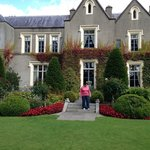 side entrance of Ballymascanlon House hotel with beautiful gardens