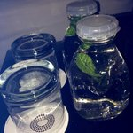 Water with mint leave