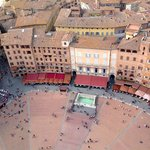 The view from the top of the Torre del Mangia