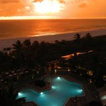 Great sunsets from poolside rooms