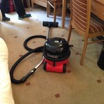 Latest amenity in the room -- a left-behind vacuum