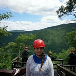 The first line 600 feet up!