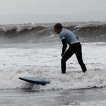 Jake surfing with Porthcawl Surf School