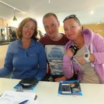 Michael, Wendy and Sue after diving the NDAC