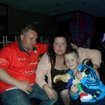 me my beautiful girlfriend and beautiful son in the clubhouse