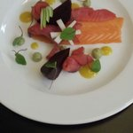 Salmon starter Sunday lunch