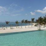 The infinity Pool and Beach at  the Long Beach Hotel