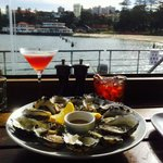 Pink lady, oysters and Negroni