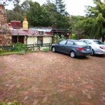 Parking in front of the Cabin