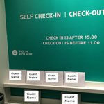 self check-in desk