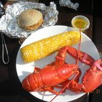 Lobster dinner from The Green Pond Fish Market