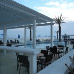 Outdoor pool and bar