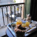 breakfast in our room each morning