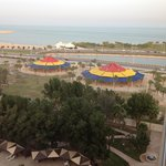 View from room over the childrens playgrounds at the corniche.