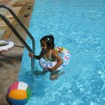 My Daughter is enjoying at pool