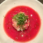 Ceviche style lobster gaspacho