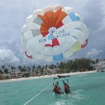 Parasailing near beach