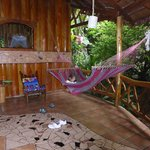Veranda with hammock