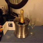 our wedding bubbly from hotel