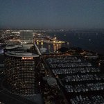 View from the 40th floor or the bay and Coronado Bridge