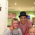 Me with David one if the brilliant kids entertainment staff after Peter Pan show