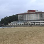 Beach across street from Haeundae Grand Hotel is very good sand!