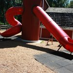 The Slides That You Enter From the Red Barn Area