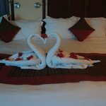 Different towel creations and petals every night