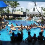 poolbar with separate tables