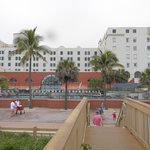 View of the hotel from the board walk