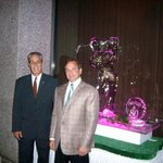 """Matre de, Ken and Manager, James, are always attentive to a special event!  Note the """"Ice Carvin"""