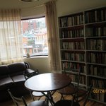 second floor sitting room and library