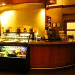 Front Desk area with Coffee, juices, snacks, etc