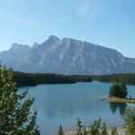 Two Jack Lake and Mt Rundle along the loop road