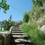 stairs up Praiano -> San Domenico