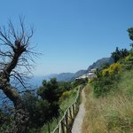 Amalfi Coast view, close to Positano exit