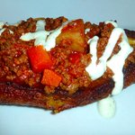 Plantain stuffed with beef