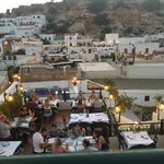 Roof top restaurants Lindos