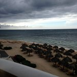 View from balcony - storm coming in