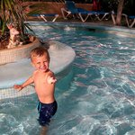 My lad in the pool