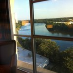 View of Lady Bird Lake from hotel room window