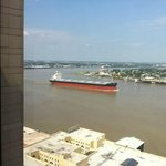 Ship passing our room.