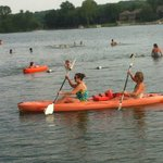 Paddling in Lake MacBride (14 mi away)