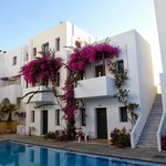 generous apartments with kitchen on first floor and bedroom and bath o second